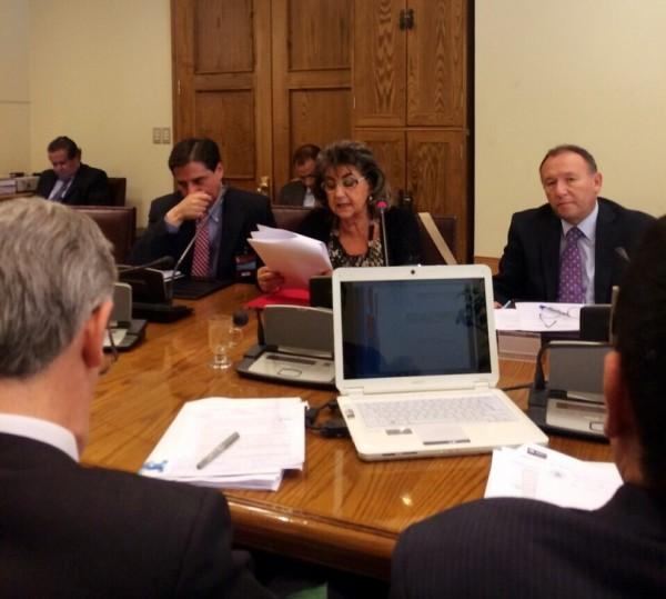 Alcaldesa Virginia Reginato, comision senado  1