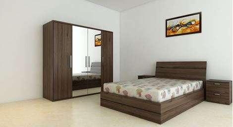 Picture Of Renne Bed Wardrobe Set