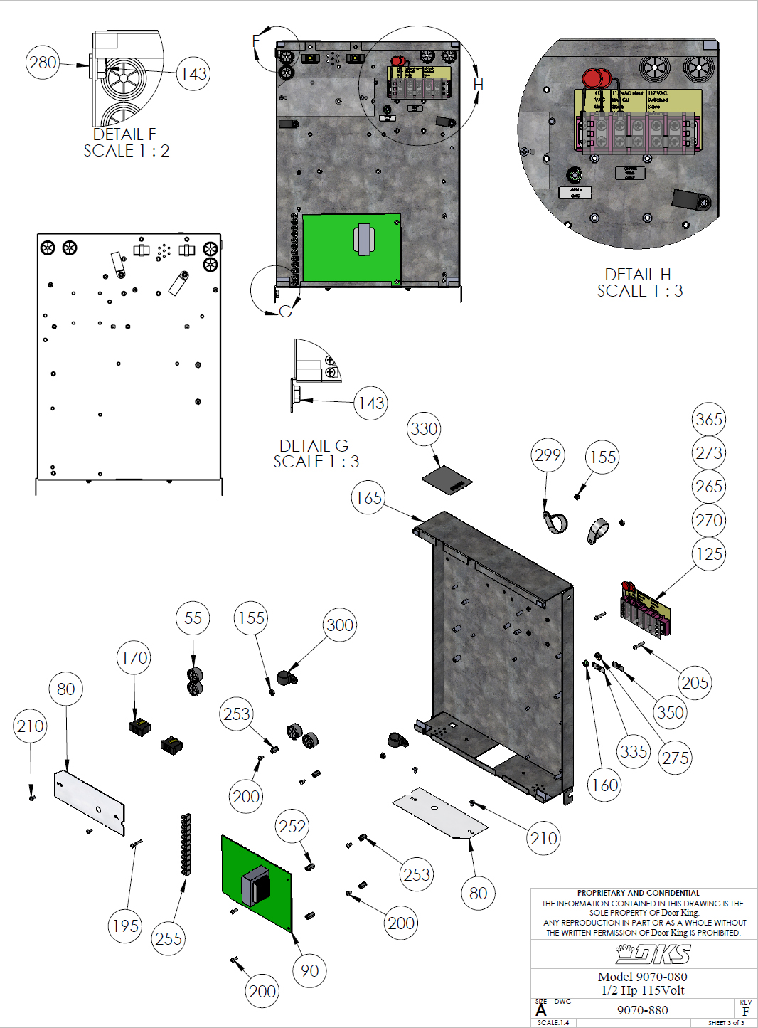 Doorking Parts Slide Gate Operator 080 Doorking Replacement Parts