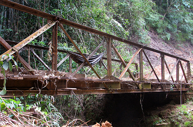 Ho Chi Minh trail bridge road 110