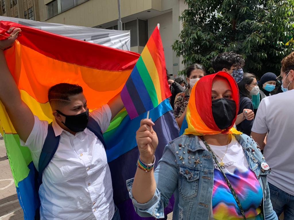 La contramarcha LGBTIQ