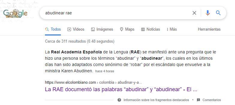 """""""ABUDINEAR"""" o """"ABUDINAR"""" y su etimología"""