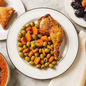 Tajine poulet olives