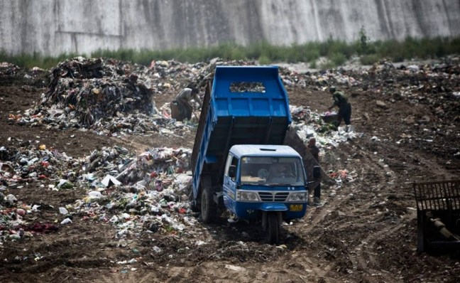 мусор в китай