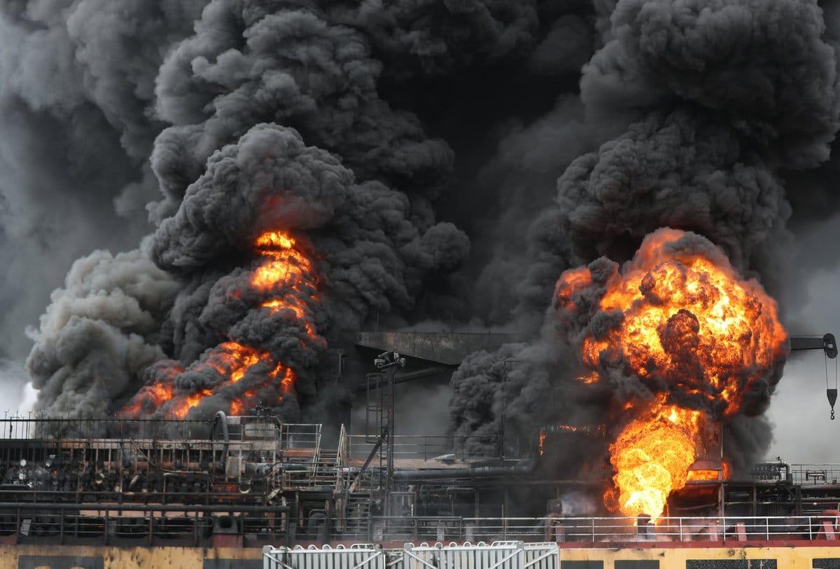 Explosión en buque de carga en puerto surcoreano deja nueve heridos