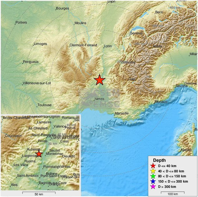 Un temblor de magnitud 5,4 remece el sur de Francia