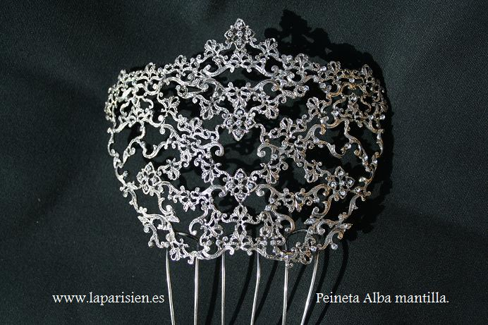 Sterling silver and Swarovski crystal comb from La Parisien.