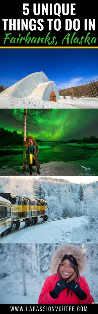 Planning a trip to Alaska and wondering about fun things to do in Fairbanks, Alaska? I've got you covered! Explore 5 unique and spectacular things you must do on your visit to this magnificent state. You'll discover some of the hidden gems in Fairbanks and how to plan your trip so you get the most out of your vacation. Also included is a packing guide to keep you cozy even at freezing temperatures. #alaska travel guide, aurora borealis