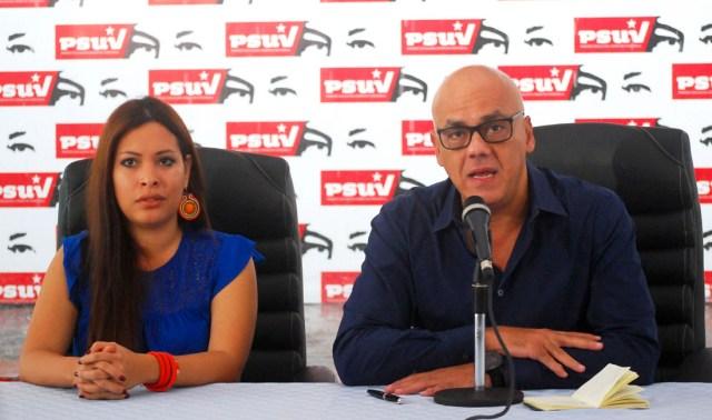 Rodríguez durante la rueda de prensa / AVN