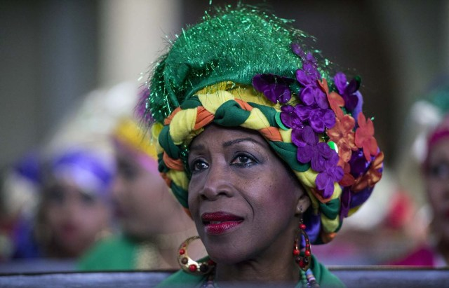 A woman dressed as