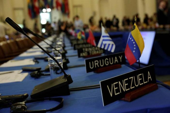 Venezuela es el tema de discusión de la Asamblea General de este lunes en Cancún, México. REUTERS/Yuri Gripas