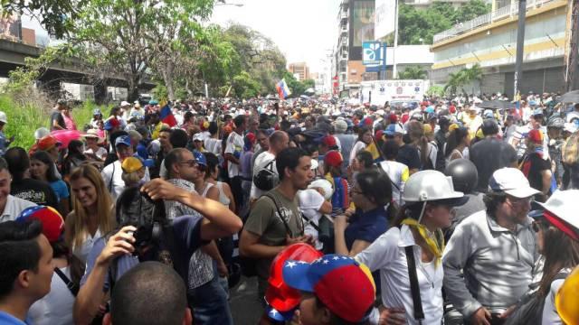 Punto de concentración Bello Monte. Foto: Eduardo Ríos / LaPatilla.com
