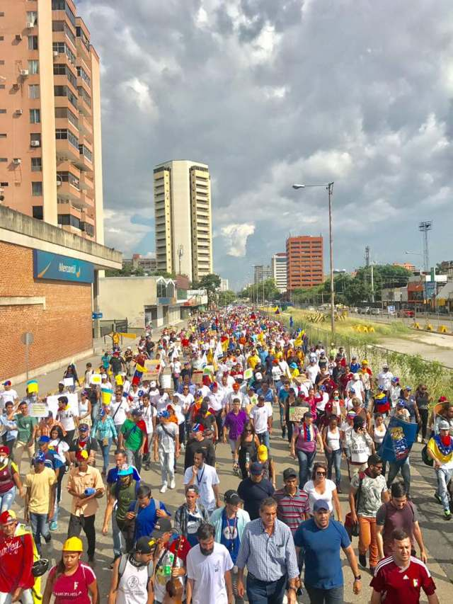 Movilización de la oposición en Valencia estado Carabobo el sábado 10 de junio. Foto: @danycosmovenezuela
