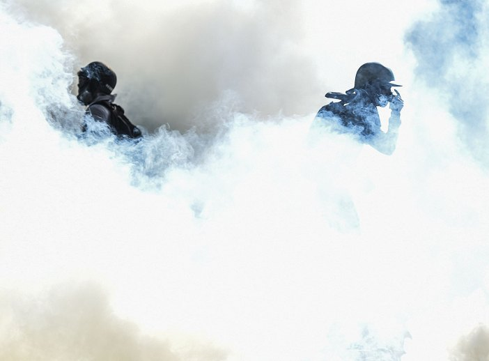 Riot policemen clash with opposition demonstrators in Caracas, on May 24, 2017. Venezuela's President Nicolas Maduro formally launched moves to rewrite the constitution on Tuesday, defying opponents who accuse him of clinging to power in a political crisis that has prompted deadly unrest. JUAN BARRETO / AFP