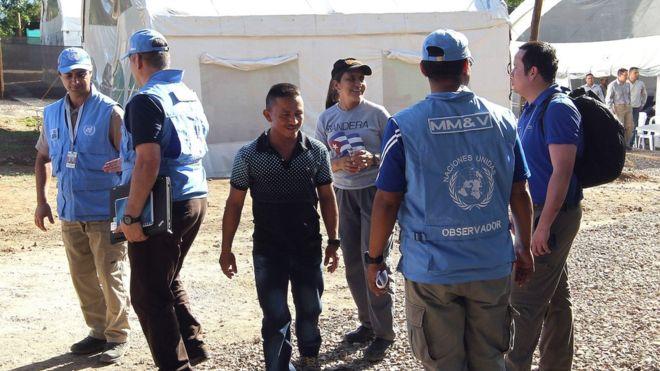 Un equipo de la Misión de la ONU en Colombia (Foto: EFE)