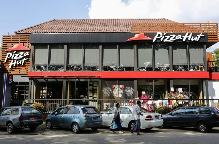 Local de Pizza Hut. Foto: EFE