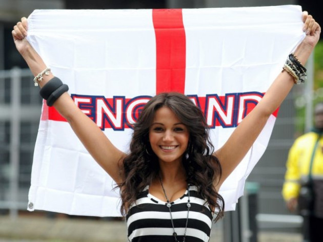 Michelle Keegan launching the official Hyundai Fan Park at Castlefield in Manchester