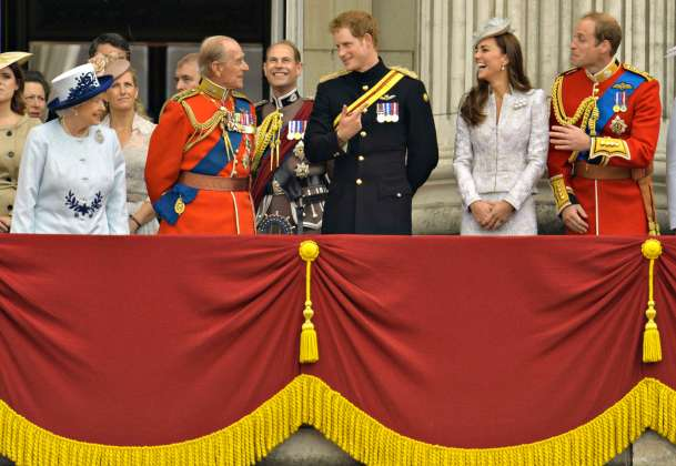 Britain's Royal family attend annual Trooping of the Colour ceremony to celebrate the Queen's official birthday in central London