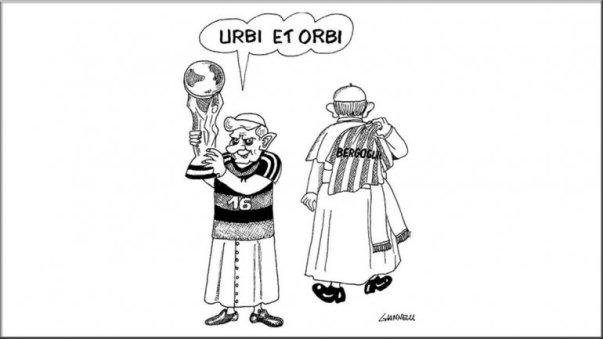 Caricatura Papa