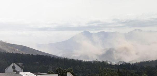 Vista del sector de San Antonio de Pichincha luego del sismo de hoy. FOTO: PRN