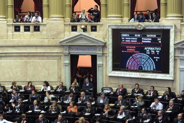 Gobierno argentino logró hoy imponer su mayoría parlamentaria para aprobar la reforma de la Ley de Abastecimiento.EFE