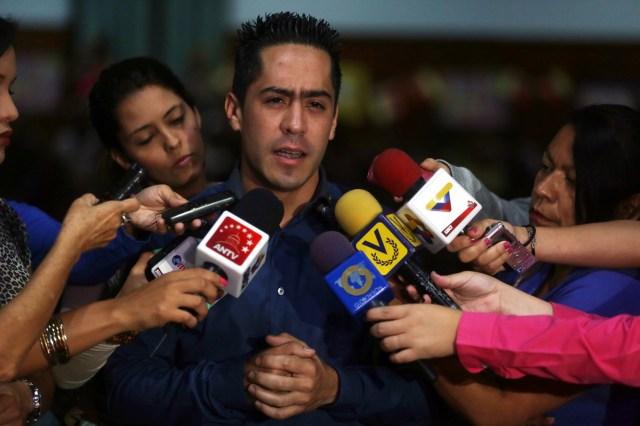 Handout file photo of slain Venezuelan lawmaker Serra in Caracas