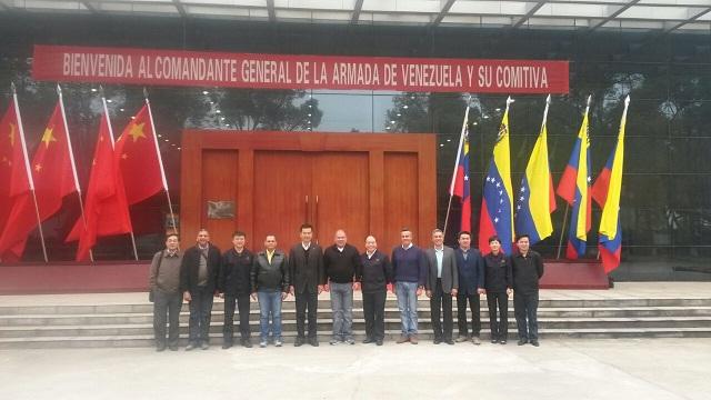 La delegación de Venezuela en las instalaciones de la empresa NORINCO / Foto Armada de Venezuela