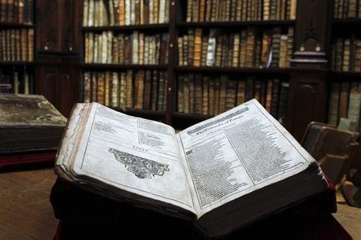 El primer folio original de Shakespeare recientemente descubierto en una librería en Saint-Omer, en el norte de Francia
