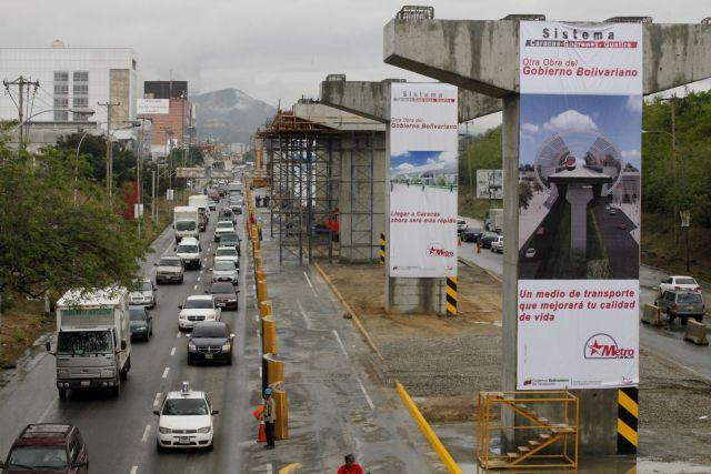 Foto: Obras del Metro Guarenas-Guatire. Distribuidor Zamora / AVN
