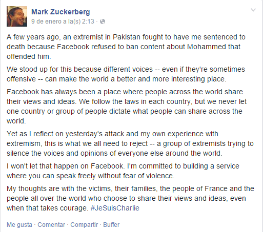 #JeSuisCharlie_Post_de_Mark_Zuckerberg