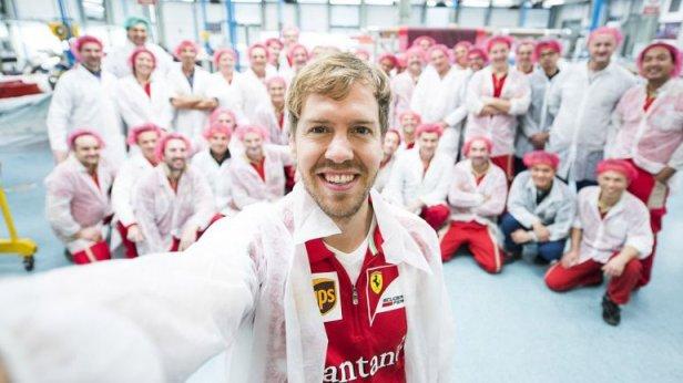 Vettel selfie