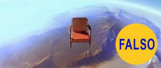 silla flotando espacio