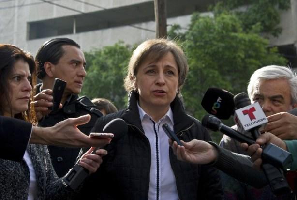 Foto:  La periodista mexicana Carmen Aristegui / AFP