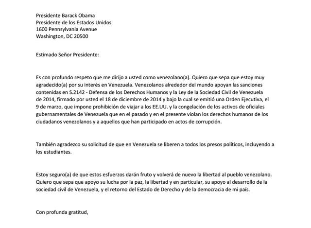 carta a Obama