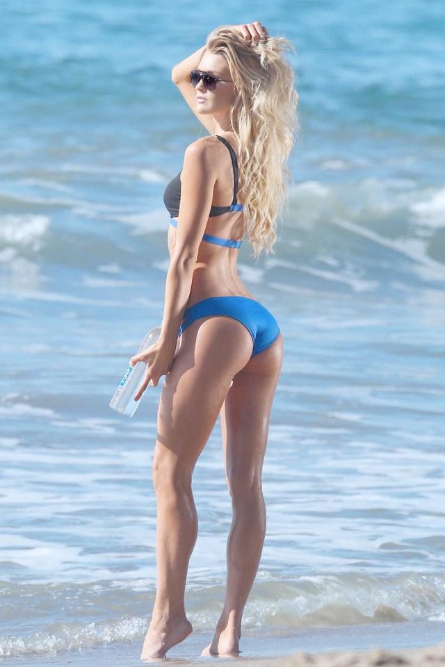 Kayla Lewis Shows Off Her Bikini Body In Malibu