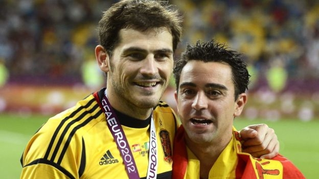 Casillas y Xavi