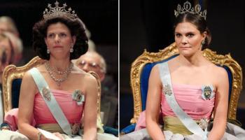 deafa3530e Victoria de Suecia recicla para los Premios Nobel un vestido que su madre  usó en 1995