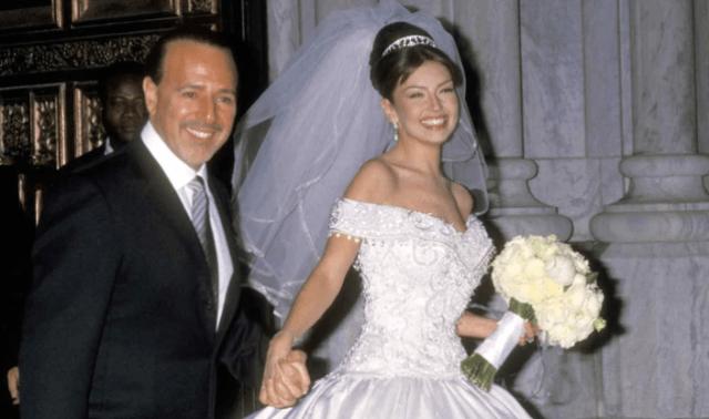 Thalía se casó en el año 2000 con Tommy Mottola