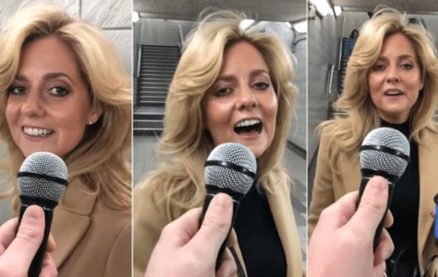 cantante metro londres - VIRAL: Una mujer sorprendió a todos al cantar una canción de Lady Gaga durante una broma (VIDEO) - #Noticias