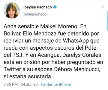 "img 3453 1 - ¡Insólito! Detuvieron a madre venezolana tras decirle ""fea"" a Debora Menicucci, esposa de Maikel Moreno"