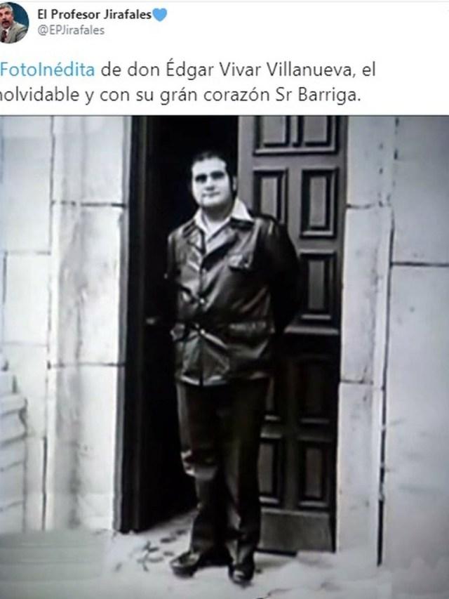 "edgar vivar 1 - La foto inédita de Edgar Vivar, el ""Señor Barriga"", que se publicó en el Twitter del Profesor Jirafales"