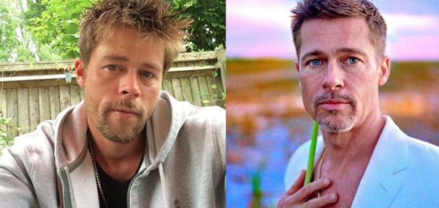 brad3 1 - Primero fue albañil... pero aprovechó su parecido con Brad Pitt para hacer otra carrera