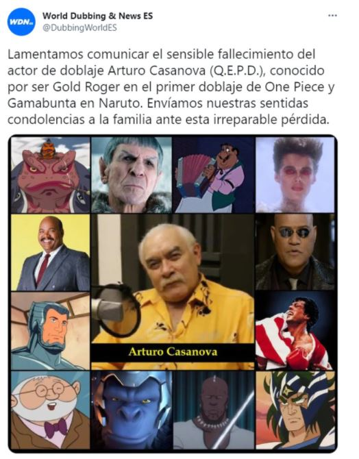"""morfeo2 - Murió Arturo Casanova, el actor de doblaje que dio voz a """"Morfeo"""" en Matrix"""