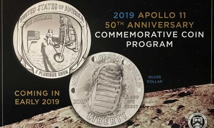 Celebran con monedas los 50 años de la llegada a la luna