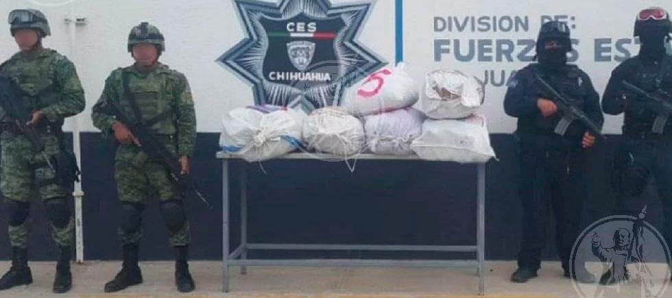 Aseguran más de 60 kilos de mariguana en casa abandonada de El Valle