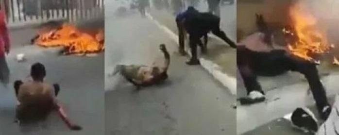 Queman a dos sicarios por balear a taxista en Oaxaca (Video)