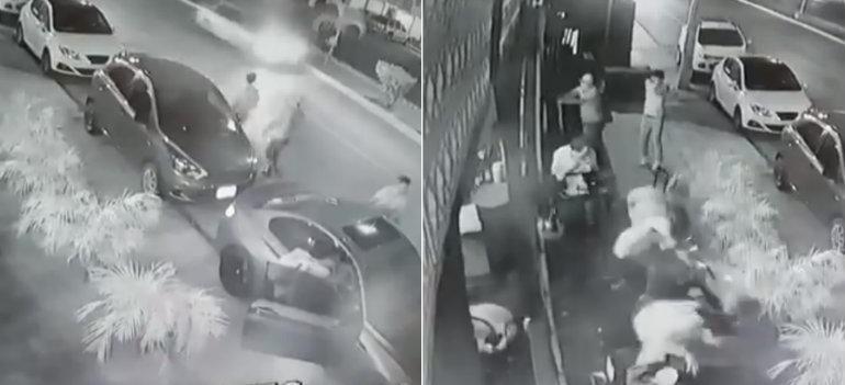 Así fue balacera en cervecería de Playa del Carmen (VIDEO)
