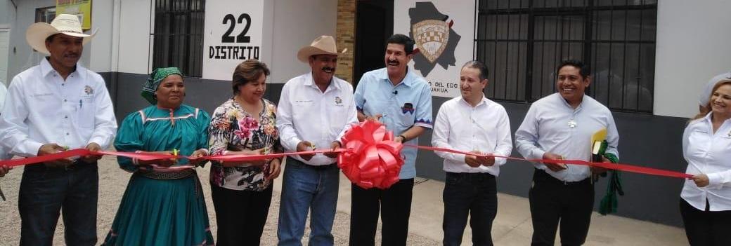 Inaugura Jesús Velázquez segunda casa de enlace Distrital en Guachochi