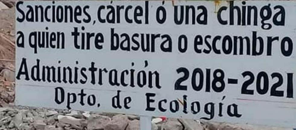 """Reafirma con anuncio alcalde, """"una chinga"""" a quien tire basura en el río"""