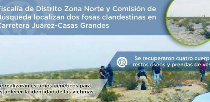 Localizan dos fosas clandestinas en carretera a Nuevo Casas Grandes